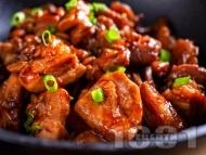 Рецепта Кето пиле по китайски с доматен сос, чесън и сос тамари